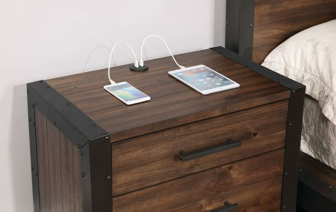 Thisbedside table with built-in USB ports will soon be available at Lowe's.