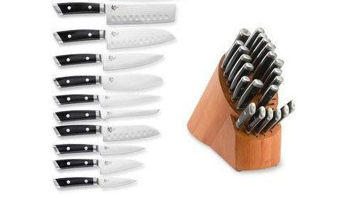 We're guessing even a professional chef like Anthony Bourdain would be a bit freaked out by a 23-piece knife set.