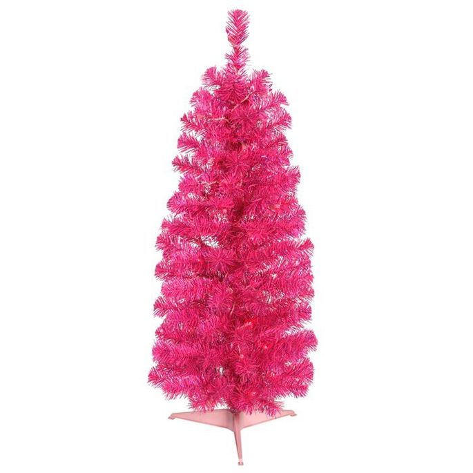 Set up this 3-foot-tall, hot pink number on a tabletop.