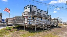 Moored Minesweeper: Boat Transformed Into Waterfront Home in New Jersey