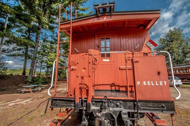 Caboose on the rails