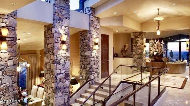 Stairs in Steven Seagal desert home in Scottsdale
