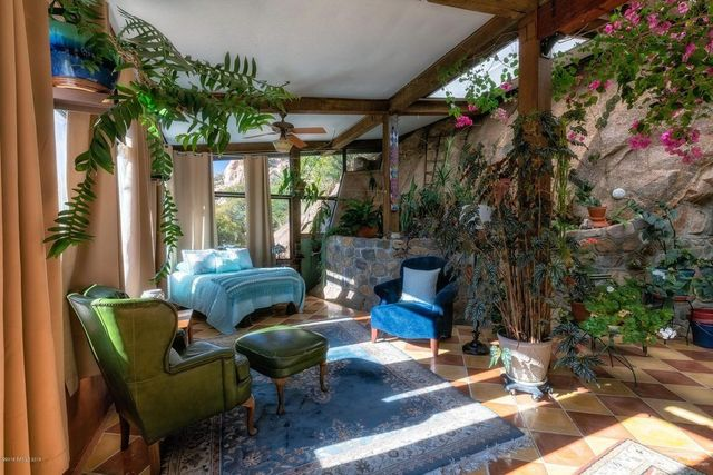 Bedroom Bisbee Cave house