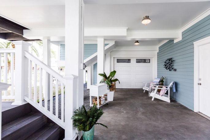 Drew's renovated first-floor patio