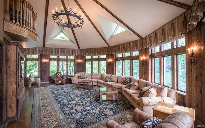 Family room in the turret