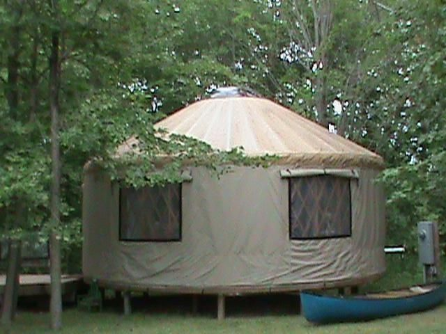 This yurt in Centuria, WI, is selling for $40,000.
