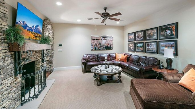 Lower-level living area