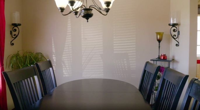 This dining room needed an update.