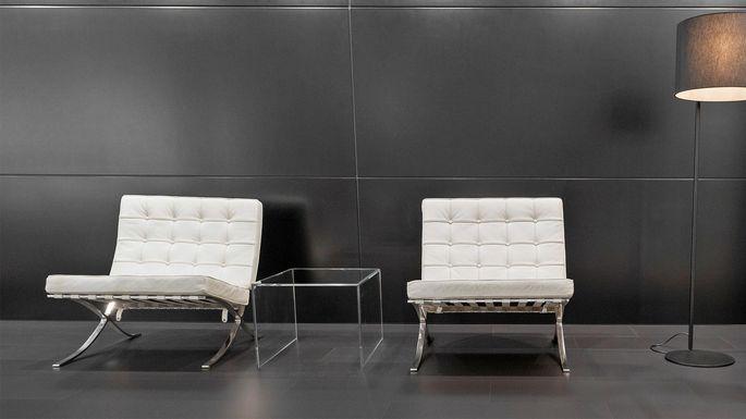 Barcelona chair from the Bauhaus school of design