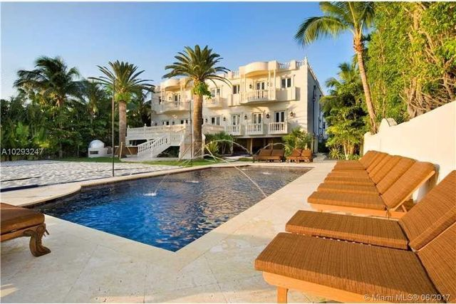 "The pool of Rapper / producer Bryan ""Birdman"" Williams' pool and beach volleyball sand pit"