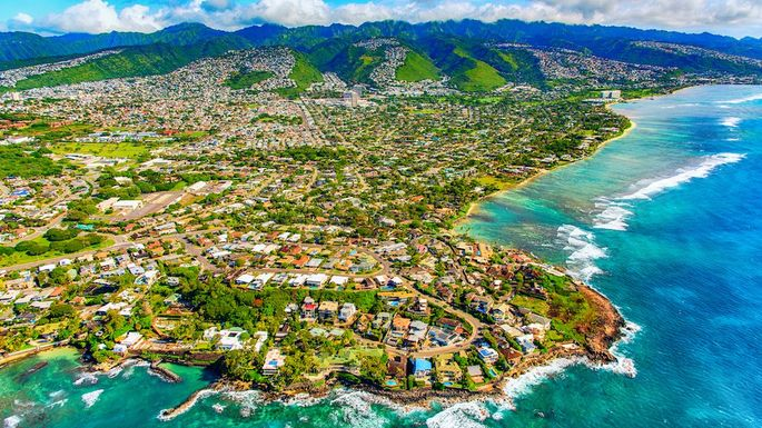 Suburban Honolulu From Above