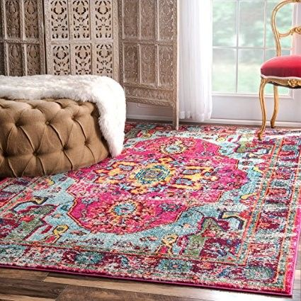 Give your room a vintage flair with this cruelty-free rug.