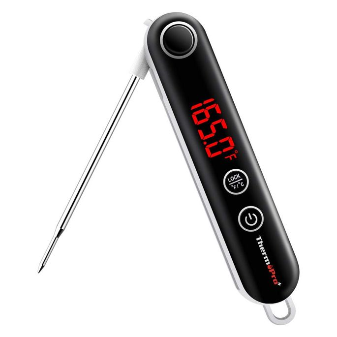 A digital thermometer is a must for cooking meats.