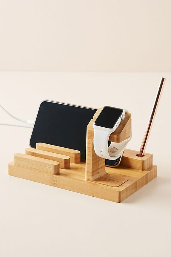 A charging station keeps all of your electronics in one place and ready to use.