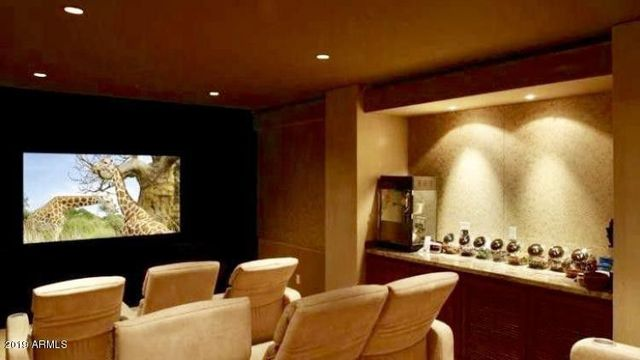 Home theater in Steven Seagal home in Scottsdale
