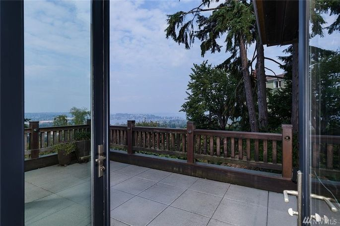 Large deck with view