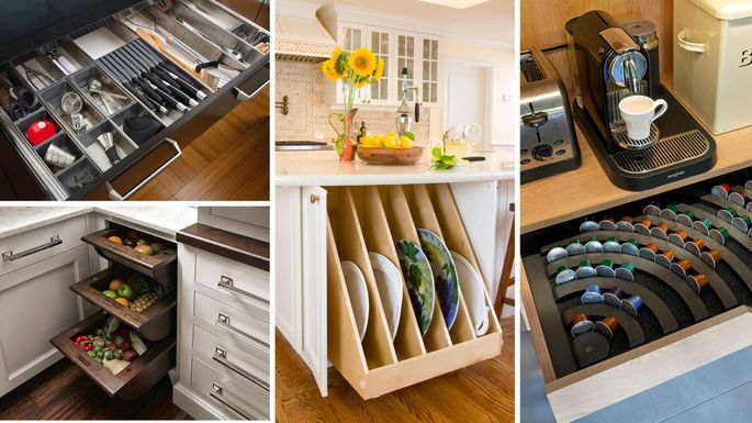 Smart Ideas For Kitchen Storage: Genius Kitchen Storage Ideas For Cabinets, Drawers, And
