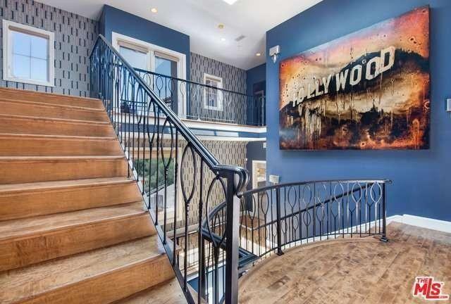 Stairway in Studio City home