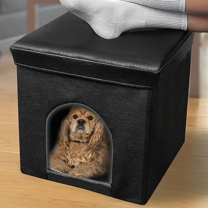 This pet ottoman, at under $25, is the least expensive of the bunch.