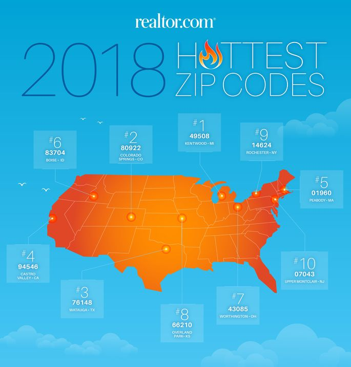 Hottest Zip Codes 2018 Map
