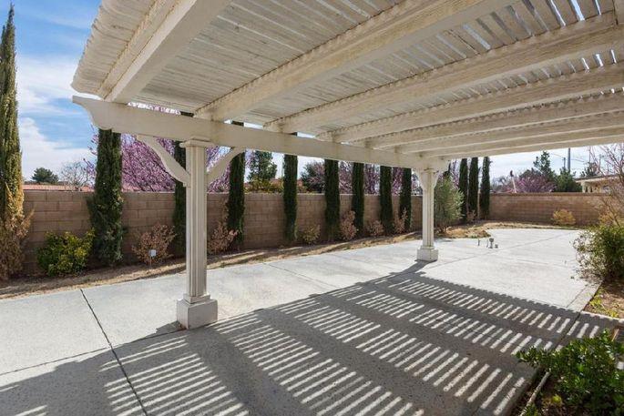 Backyard covered patio