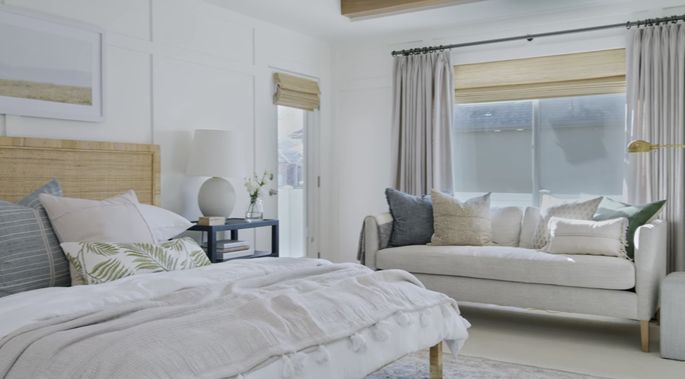 The right window dressings can make all the difference in a bedroom.