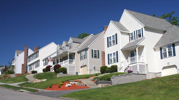 Residential neighborhood in Worcester, MA