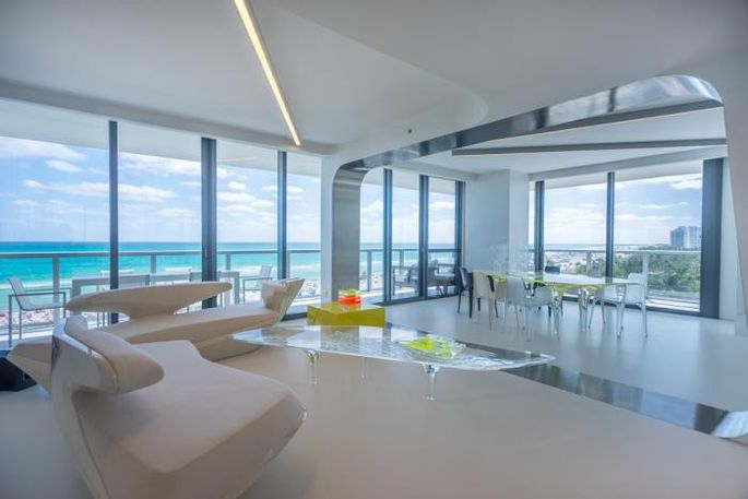 Architect zaha hadid s miami beach condo is listed for for W living room miami