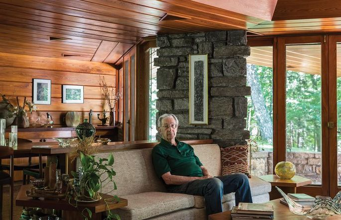 Roland Reisley has kept the house exactly as it was when it was finished.