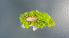 Sweet, Secluded Cottage on Private Island in Adirondacks Floats Onto the Market