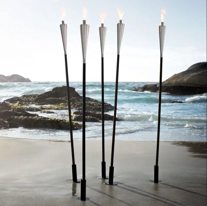 Light up your space with backyard torches.