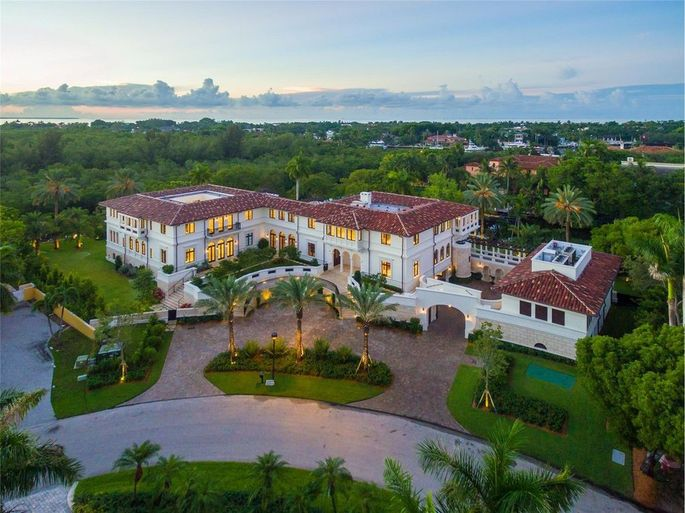 Bird's-eye view of the private estate