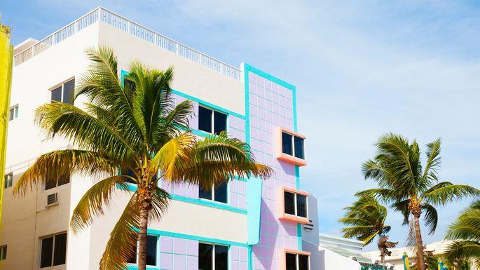 Colorful buildings in Miami