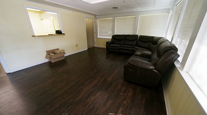 Before: This space felt like a dull waiting room.