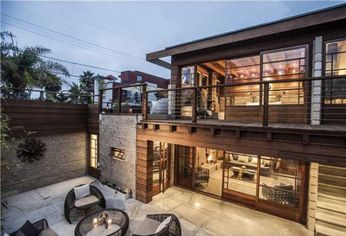Duplex in Rudolf Schindler's Pueblo Ribera Court Lists in La Jolla