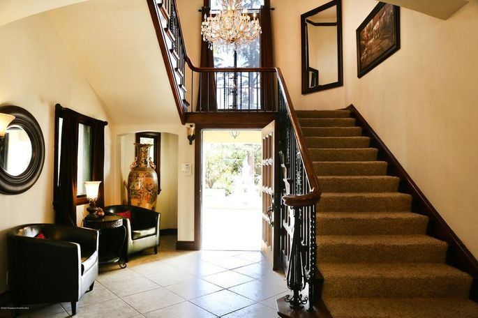 Foyer of Phil Spector's mansion