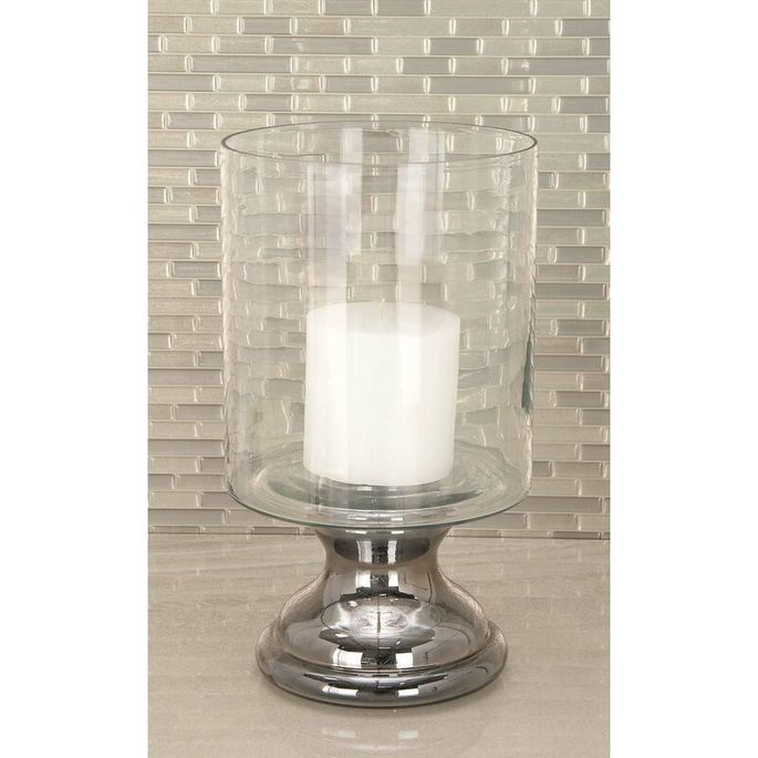 Glass hurricanes can be used inside and outside the home.