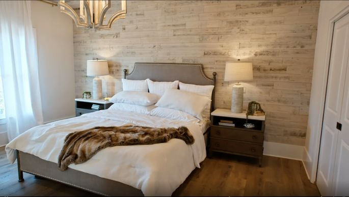 Alison Victoria and Mike Holmes want to make a statement with this wood wall.
