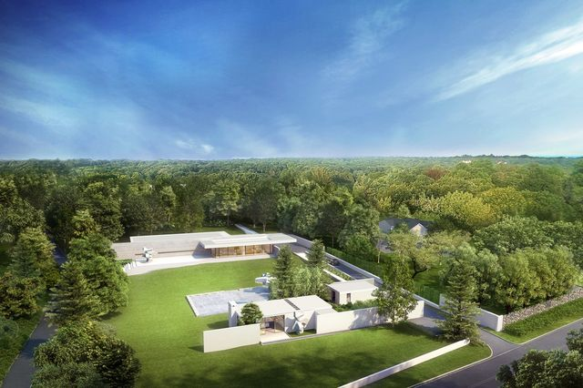A rendering of the $3 million home Mr. Bakh is designing for his family, which will be tucked behind the Ball House on the 2.2-acre site.