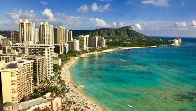 Overlooking Waikiki Beach