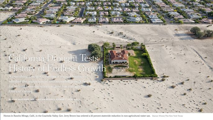 New York Times California drought story