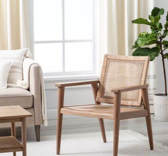 Gentle lines and a soft seat make this an ideal accent chair.