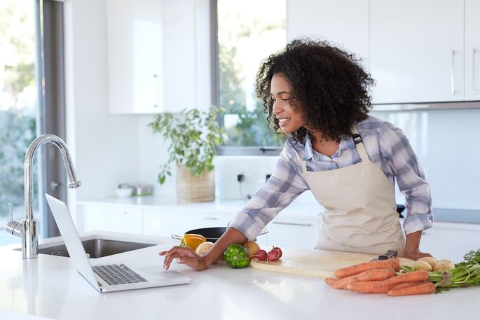 Virtual cooking classes are just one of the many online amenities luxury apartment complexes have added to their programming for residents.