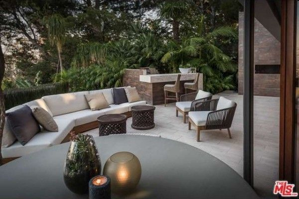 Outdoor lounge at Trent Reznor's house.