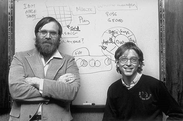 Paul Allen and Bill Gates in 1975, before they were billionaires