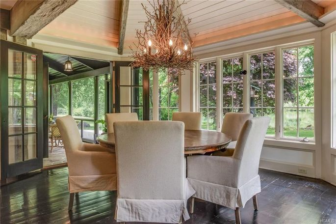 Glassed-in dining room