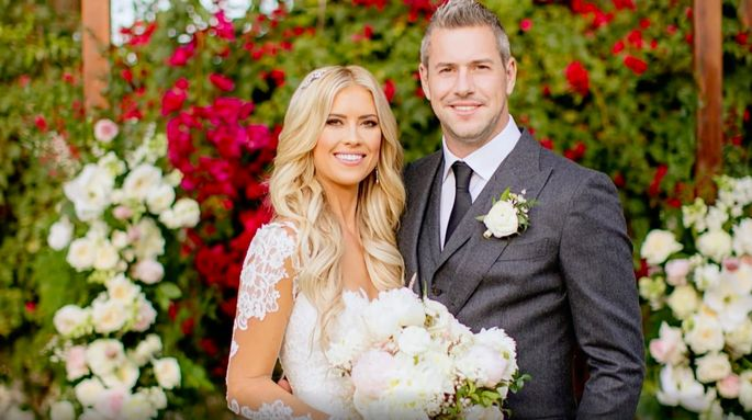 Christina and Ant Anstead looking glamorous on their wedding day.