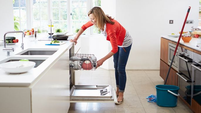 Make sure your dishwasher's drain is free of debris.