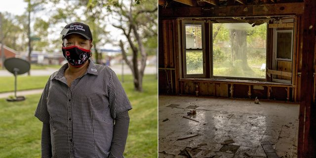 Debra Tarver has lived in the Grandmont section of Detroit for 21 years and was happy to see the house next door under renovation through the city's Rehabbed and Ready program.