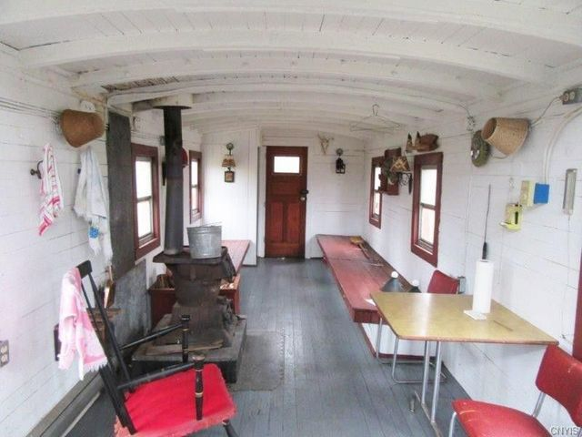 Interior of the caboose.